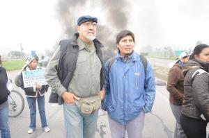 Santillán y Vilca, el año pasado, durante el paro nacional del 10 de abril