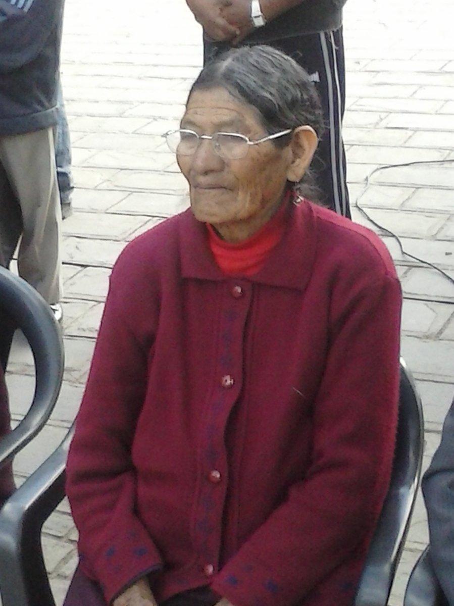 Homenaje a Gerarda Gutiérrez, sobreviviente del Malón de la Paz