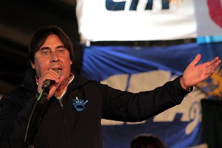 Micheli en el acto de asunción de Berdeja - Foto: ATE Jujuy