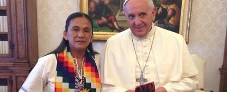 Sala con el papa Francisco