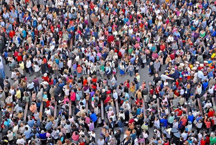 La multitud. Foto Juan Fernández