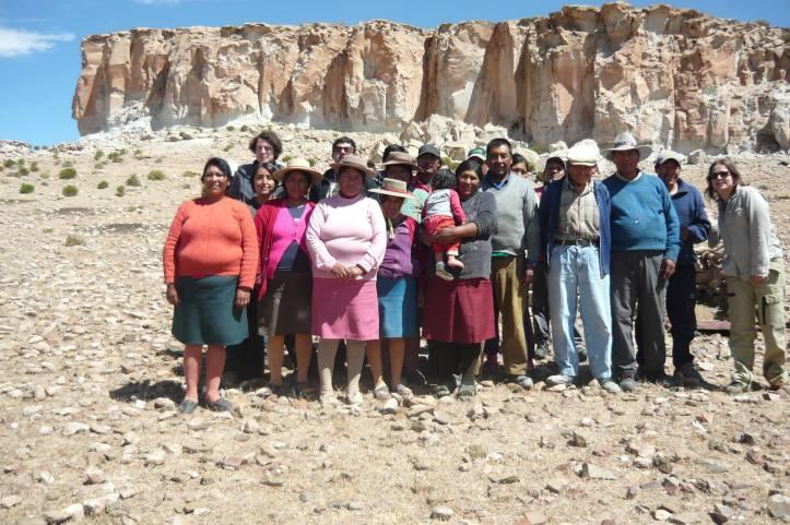 Miembros del colectivo Apacheta.