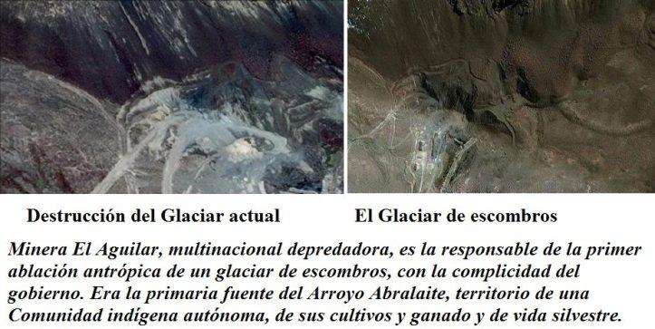 Destrucción del glaciar. (Fotos: Néstor Ruiz)