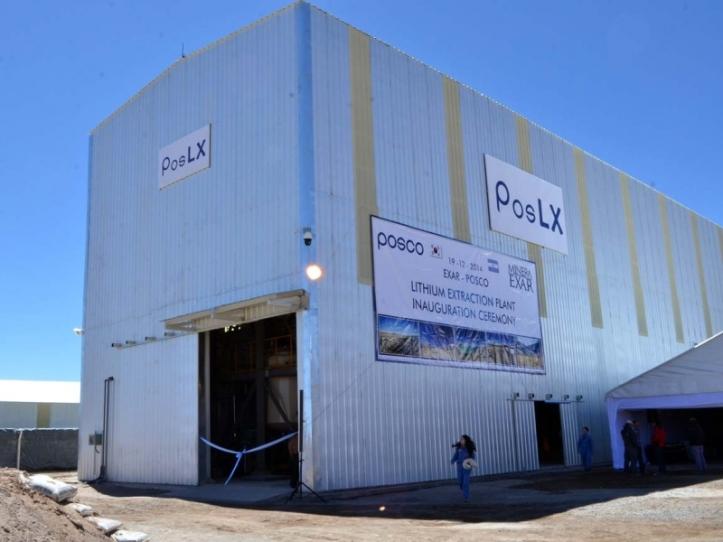La planta de litio en Jujuy