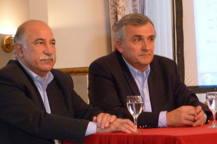Gerardo Morales junto a Mario Fiad, presidente del IPP.