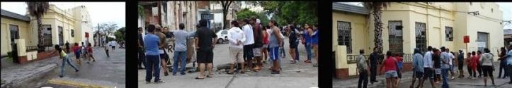 Los vecinos, indignados, apedrearon Ejesa (Fotos Nora Ruiz)