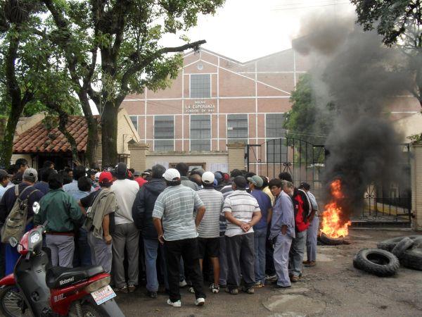 Protesta en el ingenio La Esperanza (Foto de archivo)