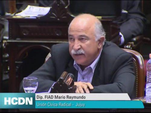 Mario Fiad, durante el debate parlamentario.