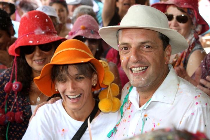 Massa y Malena, carnavaleros, el año pasado en Purmamarca