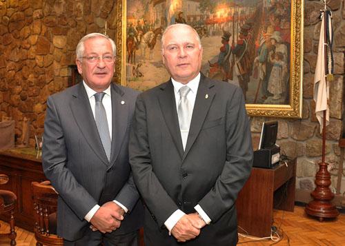 Fellner y el vice Jenefes. Repetirían fórmula