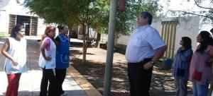 Tapia, en la Escuela 286 de Vinalito