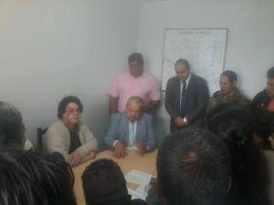 Reunión de ATE con Andrés Eleit