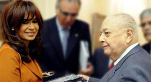 Cristina Kirchner con Carlos Blaquier