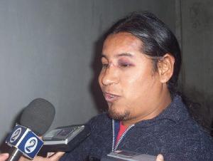 Luca Arias, pasada la golpiza (foto archivo Indymedia)