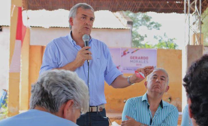 Gerardo Morales, en El Acheral, habló del Boleto Estudiantil Gratuito y Universal