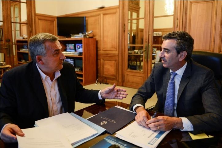 Randazzo valoró la propuesta que le llevó Gerardo Morales