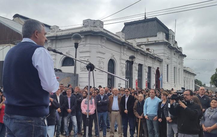 Gerardo Morales, este jueves, en el lanzamiento de la campaña por la reactivación del ferrocarril
