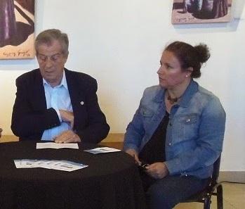 Irene Ballatore y Luis Grenni