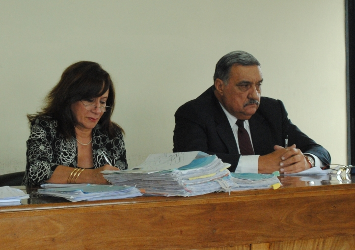 Los jueces Mario Ramón Puig y Laura Lamas