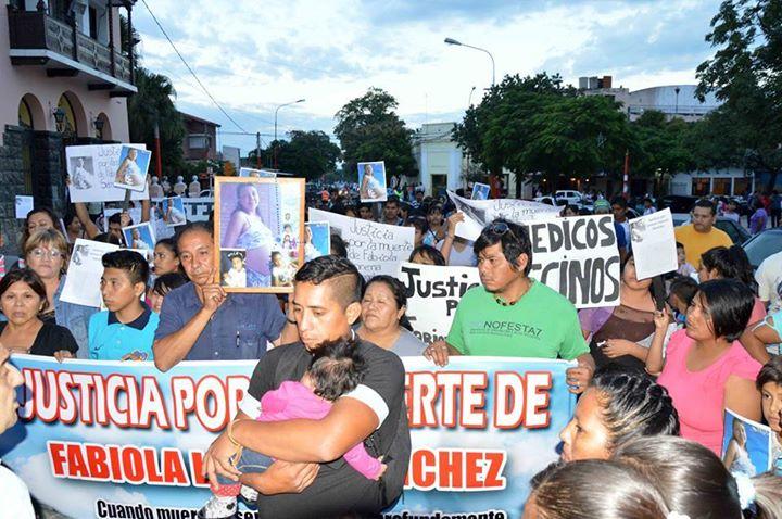La última marcha, realizada en San Pedro (Crédito de Foto: Nora Ruiz)