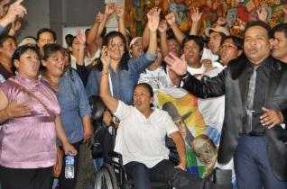 milagro sala aplaude a Fellner 2015 sesion apertura 2