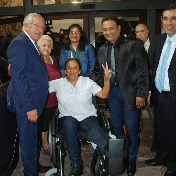 Alberto Cardozo con Fellner, Milagro Sala y Armando Berruezo