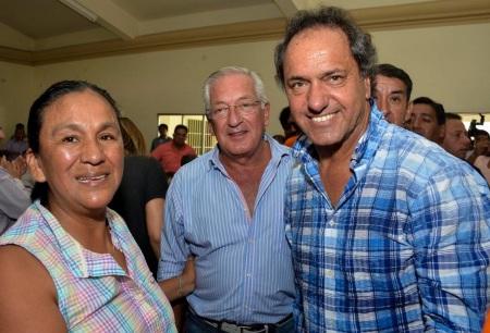Sala, Fellner, Scioli, el año pasado, en plena campaña electoral.