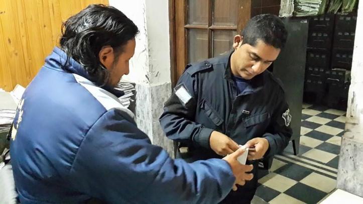 """Arias, al igual que Santillán y Canchi, fueron """"identificados"""" por la policía"""