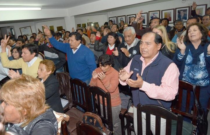 CONGRESALES DEL PJ DURANTE EL ENCUENTRO