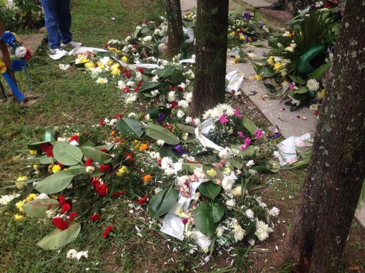 coronas rotas cementerio el rosario tumba padre miladro sala 1