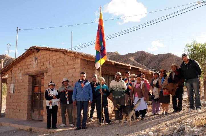 Un grupo de los maymaras que está en contra de la presidenta de la comunidad, Patricia Cruz