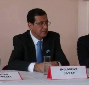 Oscar Jayat. Su esposa fue internada por el ataque con gas pimienta.