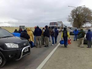 Corte de ruta en La Quiaca (Crédito foto: Prensa SEOM)