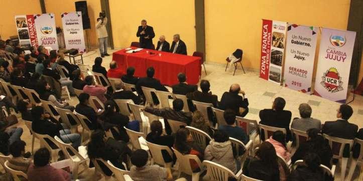 Morales habla en la jornada sobre Zona Franca