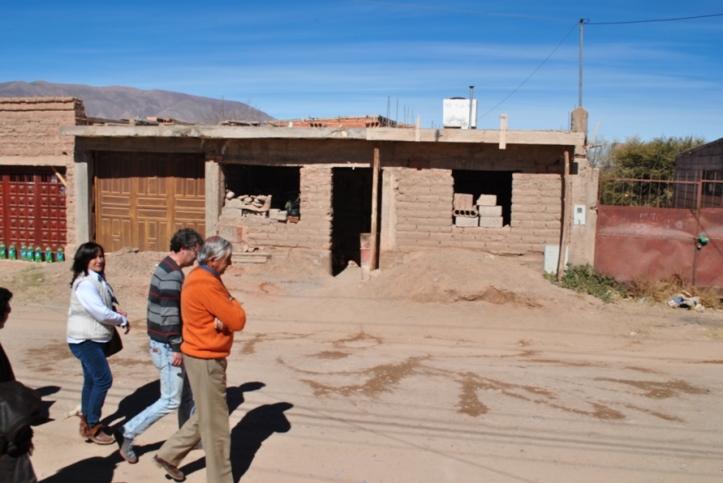 Inspección en el domicilio de Condorí (Crédito foto: Dpto. Prensa Poder Judicial)