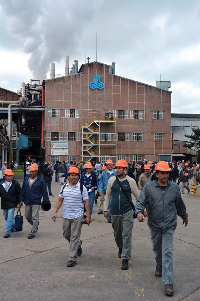 Obreros de Ledesma, el lunes, durante el inicio oficial de la zafra (Crédito foto: Ledesma)