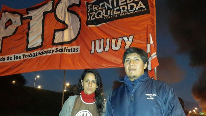 Vilca y Morales, en el corte del Acceso Sur - Foto PTS
