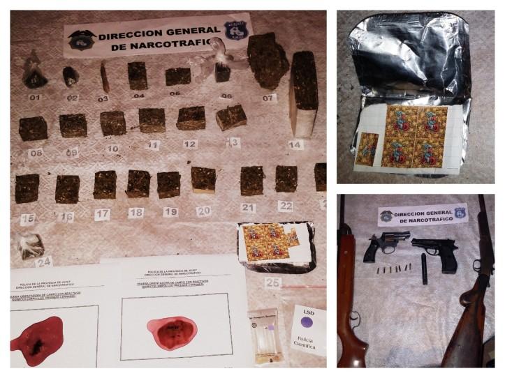 Los elementos secuestrados en el operativo. (Crédito foto: Dirección de Comunicación Institucional de la Policía)
