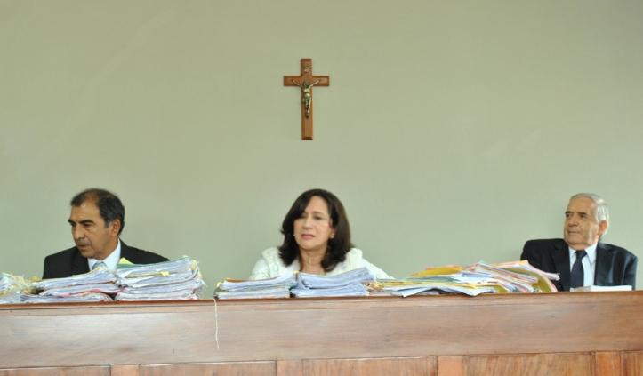 Los jueces del tribunal enjuiciador
