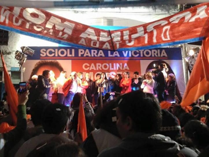 Acto del FPV en San Pedro. Milagro Sala está siendo invisivilizada en cada detalle de la campaña.