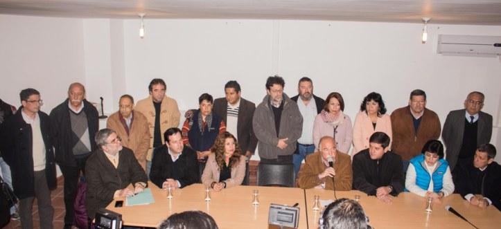 La conferencia de prensa, tras los ataques