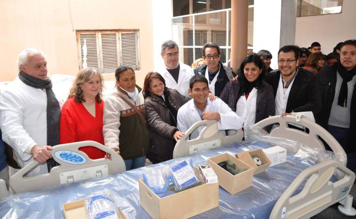 Entrega de equipamiento en el hospital Pablo Soria