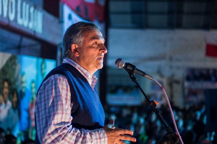 Morales en el Club Luján