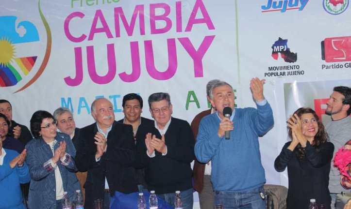 Gerardo Morales, en el lanzamiento de Fiad y Calsina