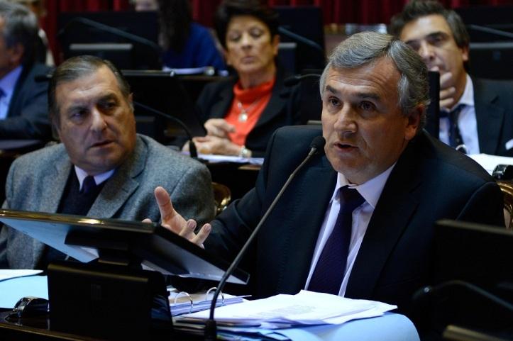 Gerardo Morales en el Senado, defiende el proyecto