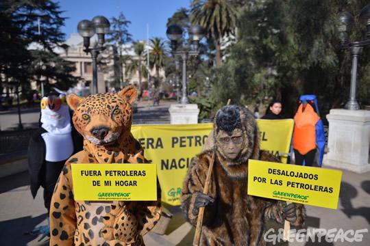 Protesta en la plaza Belgrano, en San Salvador de Jujuy