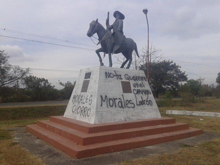 Atentado a la memoria de Jorge Cafrune para atacar al Frente Cambia Jujuy