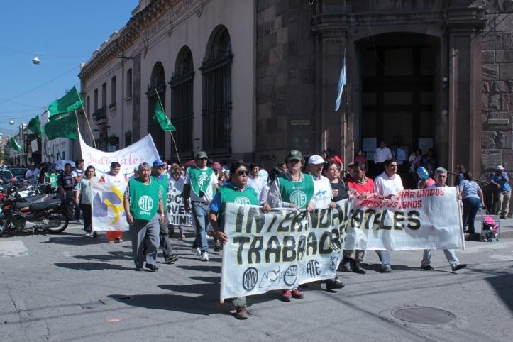 Movilización de la Intersindical. (Archivo)