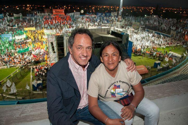 Scioli y Sala, ayer, en el acto del FPV en #Jujuy