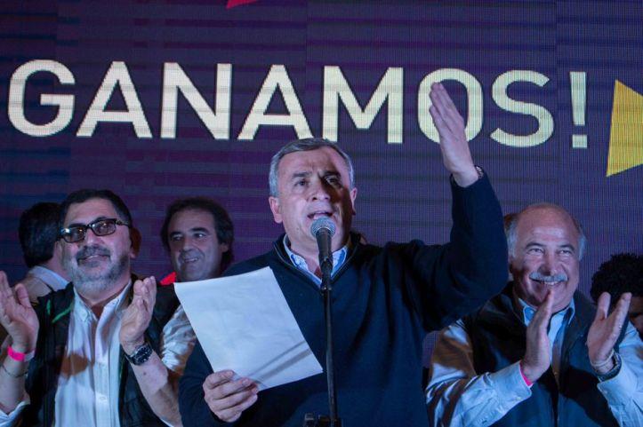 Gerardo Morales anuncia la contundente victoria del Frente Cambia Jujuy